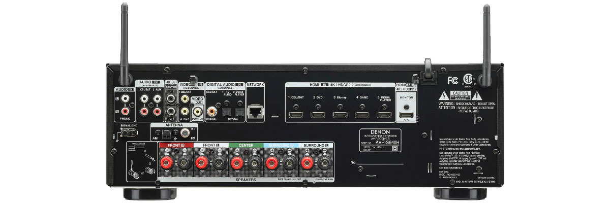 Denon AVR-S640H connections