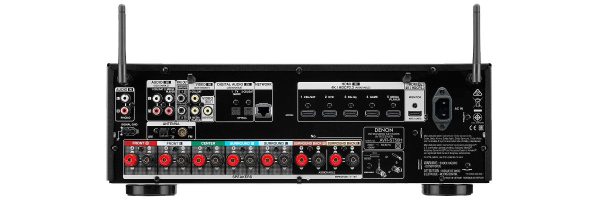 Denon AVR-S750H connections