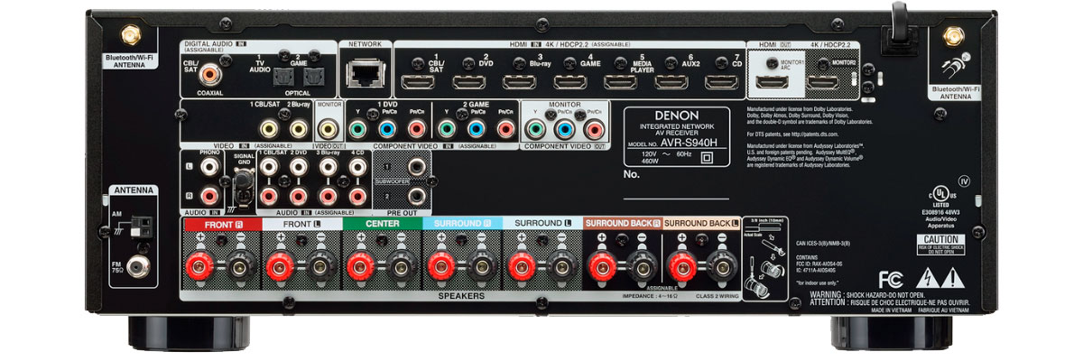 Denon AVR-S940H connections