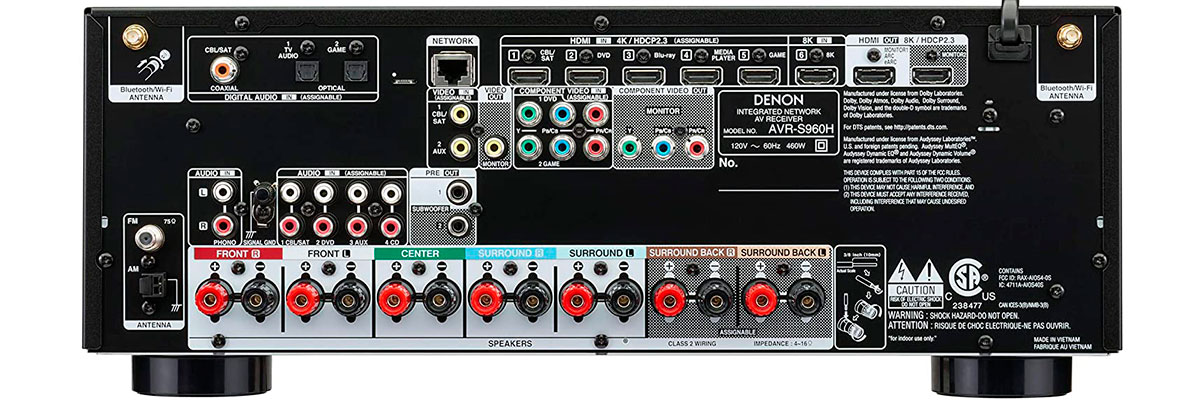 Denon AVR-S960H connections