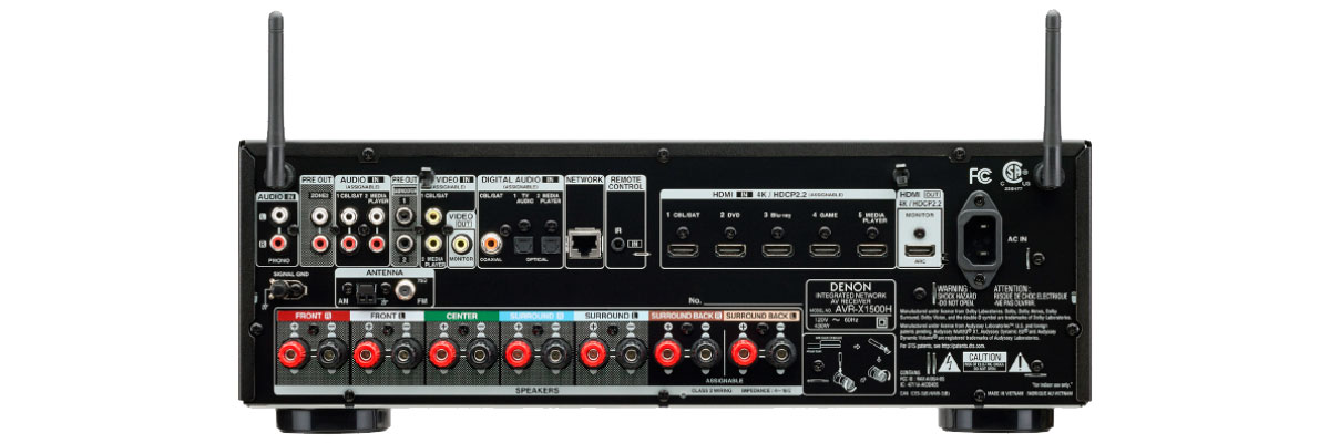 Denon AVR-X1400H connections