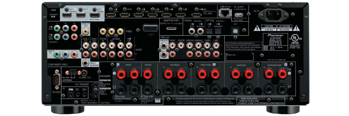 Pioneer Elite SC-85 connections