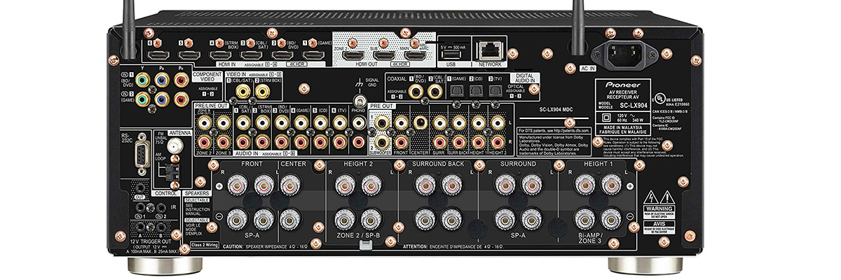 Pioneer Elite SC-LX904 connections
