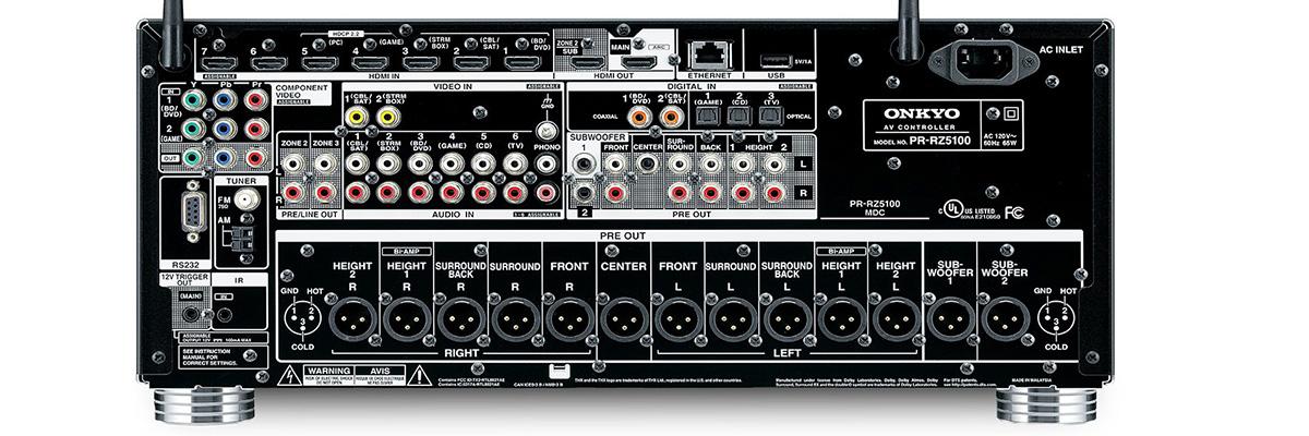 Onkyo PR-RZ5100 connections