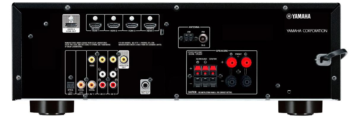 Yamaha RX-V379BL connections