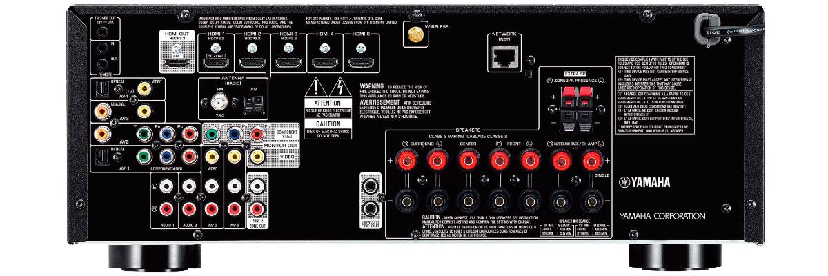 Yamaha RX-V679BL connections