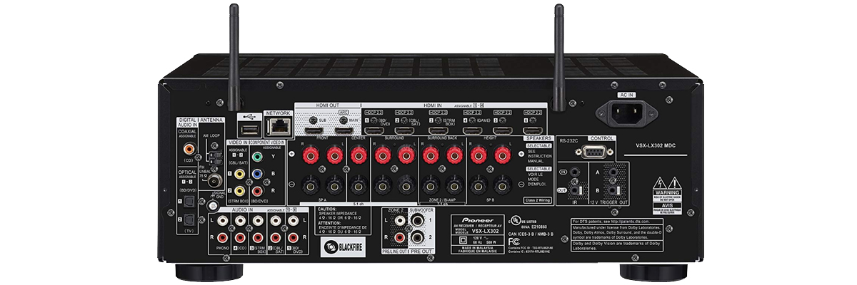 Pioneer VSX-LX302 connections